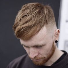 The trend for men's haircuts this Fall are all about keeping some length to work with on top and styling the hair with a blow dryer to give it a nice natural wavy look.