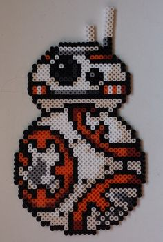 Week 1, Day 4, Fav Movie, Star Wars BB8 Perler Bead 365 Day Challenge
