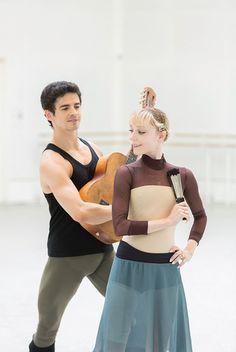 Sarah Lamb and Federico Bonelli rehearsing Don Quixote at the Royal Ballet.  Photos (c) Johan Persson and Andrei Uspenski