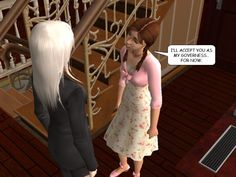 #courtleymanor #gothic #sims2 #comic #goth #sims #psychics #vampires #governess #fornow