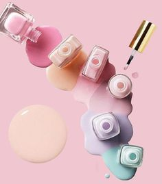 Pedicure And Manicure Ideas Pink 59 Trendy Ideas Pedicure Colors, Pedicure Designs, Nail Colors, Nail Designs, Pedicure Ideas, Faded French Manicure, Nail Logo, Salon Design, Manicure And Pedicure