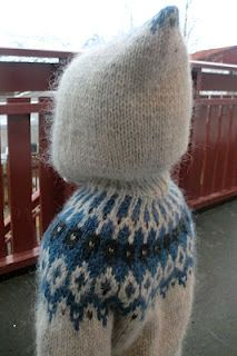 I love pixie hoods on children's sweaters. Must find a pattern similar to this picture, so cute!