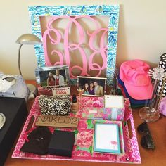 Well now, you'd never know my daughter is a Southern Belle by all of the monograms and Lilly Pulitzer patterns in her room, would you? Silly girl.