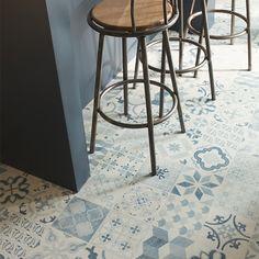 Sol stratifi style parisienne carreau de ciment lame cm sol stratifi - Credence cement tegels ...