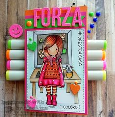 Blankina creations: Forza #iorestoacasa Gorjuss card Copic Drawings, Copics, Good Morning, How To Draw Hands, About Me Blog, Stamp, My Favorite Things, Cool Stuff, Creative