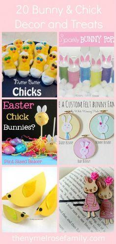 20 Bunny Chick Decor and Treats