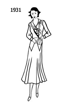 104 best dress sketches images 1920s dress sketches 1920s Hairstyles 1931 dress sketches 1930s fashion 30s fashion