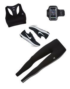 """""""Sport!💪🏻"""" by milenataglia ❤ liked on Polyvore featuring adidas, NIKE and Marika"""