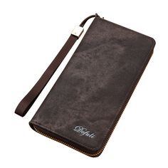 2017 New Sale Luxury Famous Brand Men Card Holder Phone Coin Pocket Coffee PU Leather Slim Long Wallet Clutch Purse With Zipper