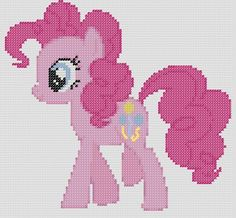 My Little Pony Inspired Pattern  Pinkie Pie by StitchedPixels, $1.25