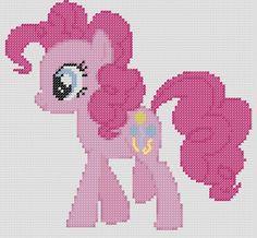 My Little Pony Inspired Pattern Pinkie Pie par StitchedPixels