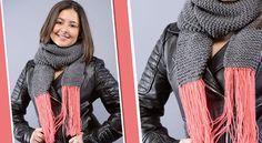 Tricot : un modèle d'écharpe au point mousse Soyez à la pointe de la mode cet hiver avec une écharpecontrastée. Tricotez ce modèle en duo de couleurs au point mousse, c'est très facile même pour celles qui sont débutantes. Vous allez adorer !