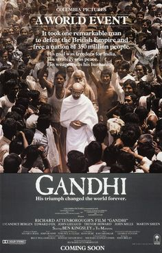 Richard Attenborough and Ben Kingsley combined their legendary talents to create a film so epic in scope and theme that formidable talents like John Mills, Martin Sheen, and Candice Bergen were cast in secondary, supporting roles.  More importantly, this amazing film is so epic and so very well made that it manages to capture the essence of Mahatma Gandhi: One of the most important men ever to walk this Earth.
