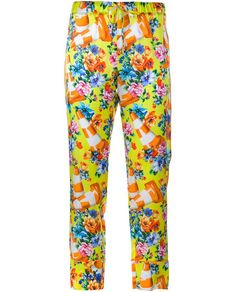 MOSCHINO Cone and Flower Print Trousers