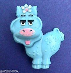 Avon PIN Fragrance Glace BLUE MOO COW 1970s Vintage KIDS Pal Lapel Brooch Vtg