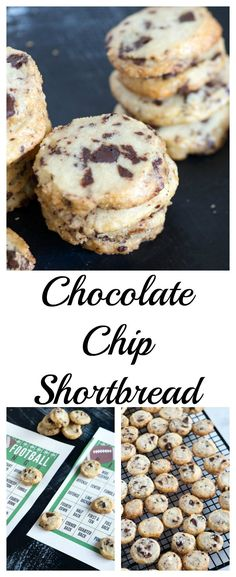 Chocolate Chip Shortbread Cookies   Butter and Baggage