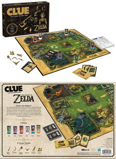 Legend of Zelda Clue Board Game Clue Board Game, Board Games, Diy Games, Games To Play, Zelda Gifts, Clue Games, The Legend Of Zelda, Different Games, Gamer Gifts