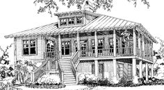 Rutherford's Roost - Allison Ramsey Architects, Inc.   Southern Living House Plans