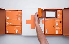 Designer Kevin Harald Campean has redesigned the typical First Aid Kit with a functional, iconic, and bold approach. Instead of the traditional red or blue color, he opted for orange to make the kit immediately recognizable. The kit comes with instructions and compartments that allow the buyer to find everything easily. Each compartment has an icon to describe where everything is located. It is a concept that could be applied to many branded First Aid Kits.