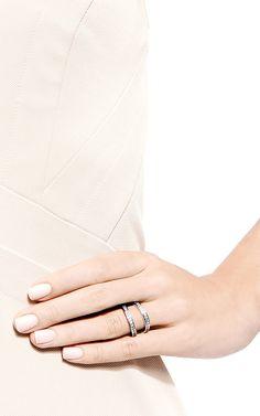 Pavé-Crystal Double Band Ring by Fallon - Moda Operandi