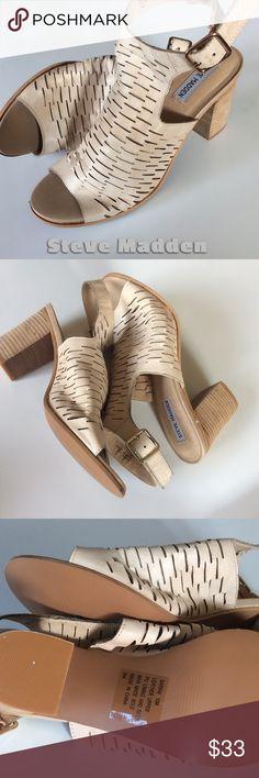 Steve Madden Open Toe Slingback Heels NWOT NWT  ~ Leather ~ No box.  NWOT Steve Madden Shoes