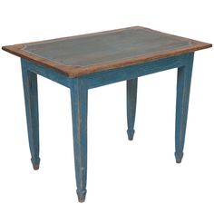 Light Blue Painted Gustavian Side Table | From a unique collection of antique and modern side tables at https://www.1stdibs.com/furniture/tables/side-tables/
