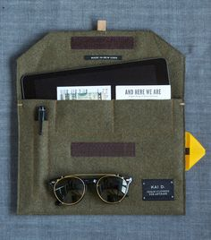 Wool Felt iPad Case. Made in New York.  Kai D.