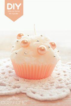DIY: Como hacer velas con forma de cupcake.