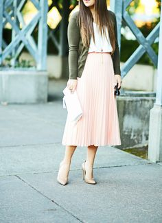 5976d0f984d olive pink white pink-asos-skirt-olive-green-jcrew-cardigan