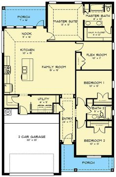 Plan Exclusive Country Home Plan with Flex Room - Plan Exclusive Country Home Plan With Flex Room - {hashtag} Cottage House Plans, Craftsman House Plans, Country House Plans, Dream House Plans, Small House Plans, House Floor Plans, Flex Room, Roof Plan, Room Planning