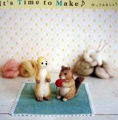 【惊鸿踏雪】羊毛毡,小松鼠