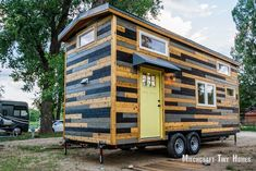 This is April and Curtis' beautiful 24ft tiny home on wheels built by Mitchcraft Tiny Homes. What do you think?