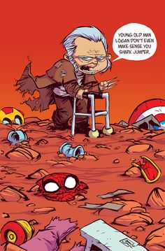 Old Man Logan #1 variant by Skottie Young