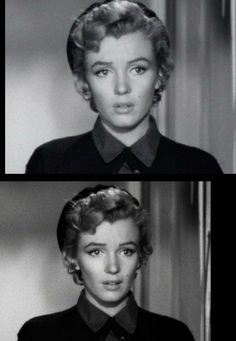 """Two beautiful still photographs of Marilyn from """"Don't Bother to Knock"""" (1952)."""