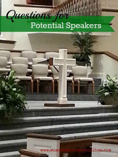 Questions for Potential Speakers: Great resource for planning women's ministry events. #womensministry