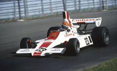 Tony Brise en piste sur l'Embassy Hill pour le dernier Grand Prix des États-Unis, à Watkins Glen 1975