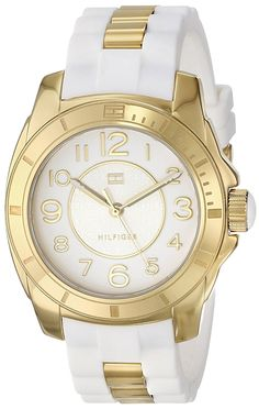 Tommy Hilfiger Women's 1781309 Analog Display Quartz White Watch >>> See this great product. Tommy Hilfiger Watches, Tommy Hilfiger Women, Bracelet Silicone, Dream Watches, Best Watch Brands, Online Watch Store, Michael Kors Watch, Gold Watch, Jewelry Watches