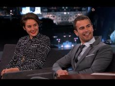 Shailene Woodley & Theo James on Jimmy Kimmel Live PART 1 and PART 2, including the Final Divergent Trailer!