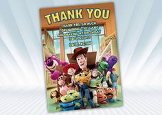Toy Story Thank you card by DigiPartyShoppe on Etsy, $4.00