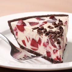 Cherry Ice Cream Pie with Chocolate Cookie Crust