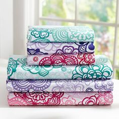 Flower Burst Sheet Set #potterybarnteen