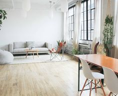 use folding table - can also add an additional table.when needed.im still pushing for a mezzanine so we can also store the stuff up there when not needed.maybe I'll ask about storage fees in building! Space Furniture, Montreal, Home Improvement, Dining Table, Interior Design, Storage, Inspiration, Home Decor, Heart