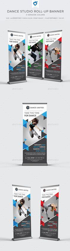 Dance Studio Roll-up Banner Template #design Download: http://graphicriver.net/item/dance-studio-rollup-banner/11102600?ref=ksioks