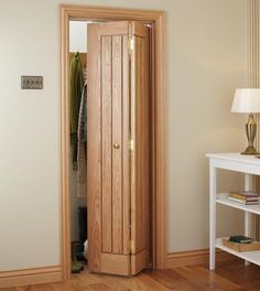 Folding doors for your home folding doors dordogne oak bi-fold French Closet Doors, French Doors, Doors And Floors, Bathroom Doors, Bathroom Closet, Small Bathroom, Shower Doors, Oak Doors, Wooden Doors