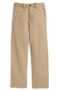 Ralph Lauren Boys 'Suffield' Flat Front Cotton Chinos Khaki Sizes 8 - 14 #PoloRalphLauren #KhakisChinos #Everyday