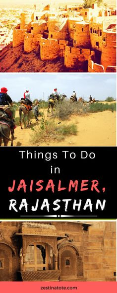 Jaisalmer is the last outpost on the western border of Rajasthan. Visit its fabulous Fort, see the Havelis in the old town, spend a night in the Thar Desert. #india #rajasthan #jaisalmer #thingstodo #whattodoinjaisalmer #jaisalmertrip #indiatravel