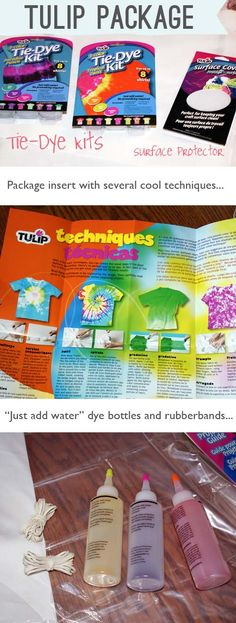 Tulip Tie Dye Kits - This is the kit we used.  Super easy and fun for the kids!