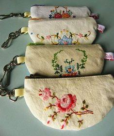for using vintage linens. Jenny of ELEFANTZ: Ideas for using vintage linens.Jenny of ELEFANTZ: Ideas for using vintage linens. Fabric Crafts, Sewing Crafts, Sewing Projects, Vintage Crafts, Vintage Sewing, Upcycled Vintage, Repurposed, Vintage Ideas, Hand Embroidery