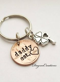 Personalised Gift Star Keyring Fob  Father Granny Granddad Present Birthday