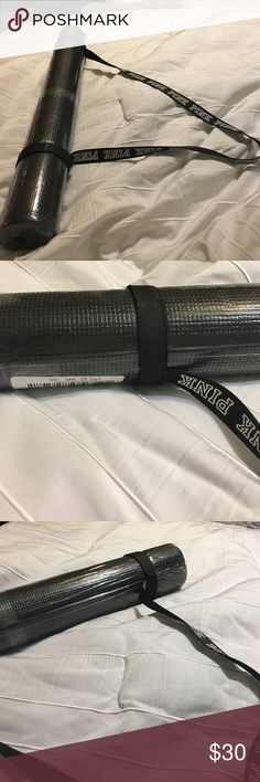 Brand new Victoria's Secret PINK YOGA MAT SOLD OUT Black with black and white strap, brand new PINK Victoria's Secret Other